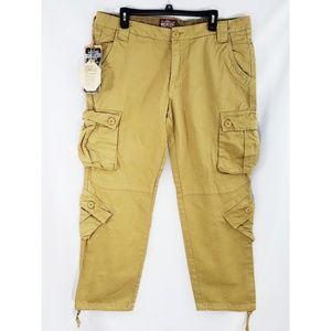 Matchstick Khaki Cotton Cargo Pants XXL/36